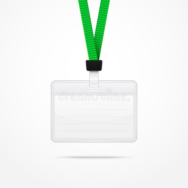 Lanière avec le support d'insigne d'étiquette illustration de vecteur