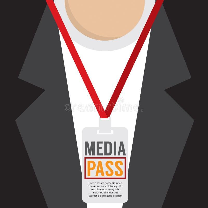 Lanière de passage de media illustration de vecteur