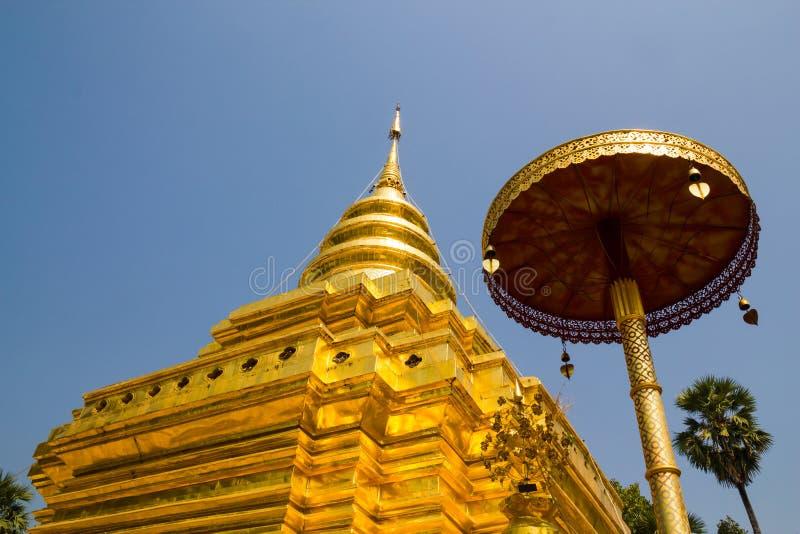 Lanière de Wat Phra That Si Chom photos libres de droits