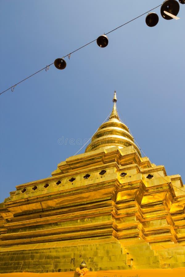 Lanière de Wat Phra That Si Chom photo stock