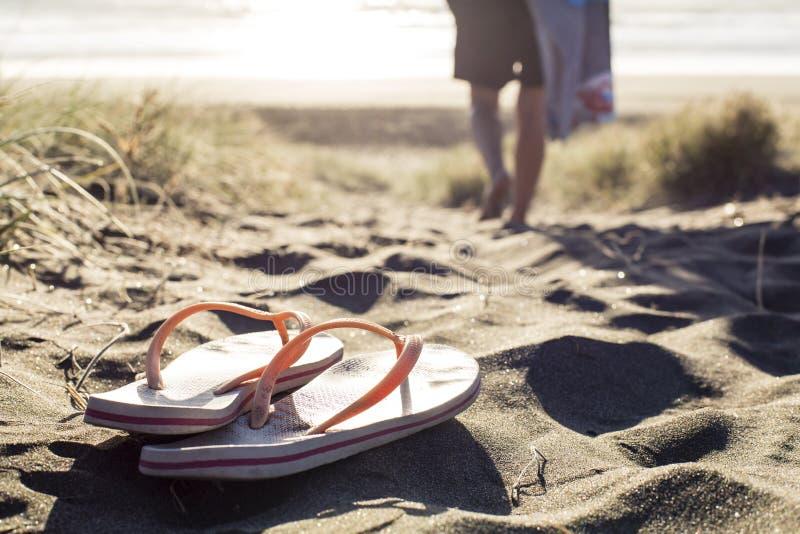Lanières de plage image libre de droits