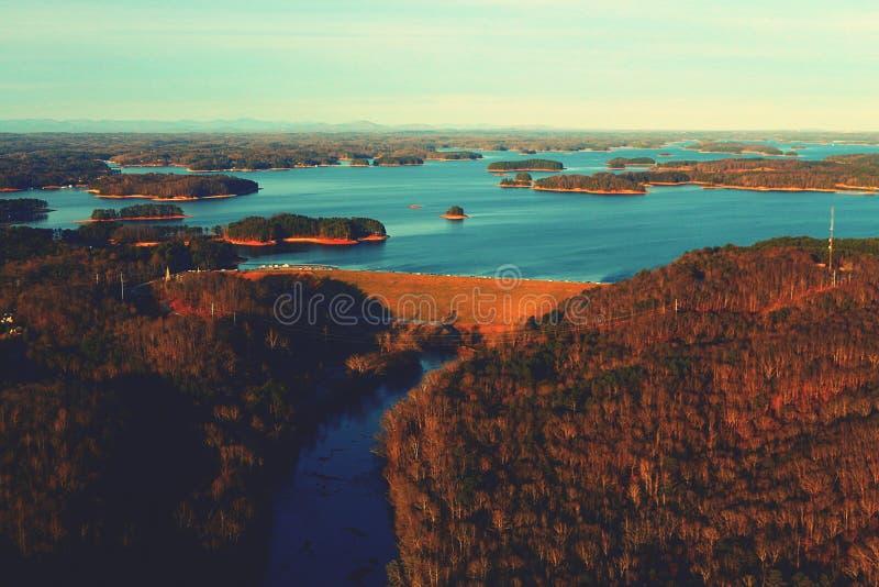 Lanier Spillway fotografie stock libere da diritti