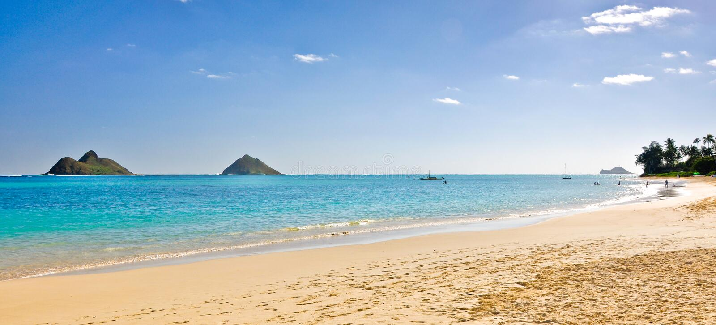 Download Lanikai Beach stock image. Image of oahu, holiday, palm - 14842363