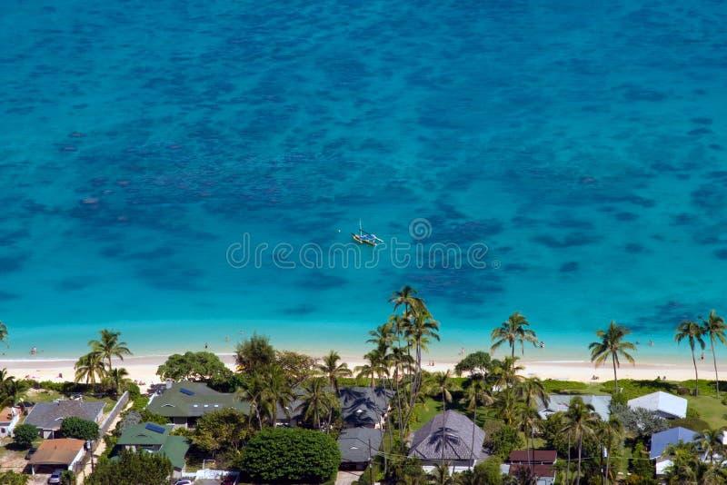 Download Lanikai Beach stock image. Image of oahu, canoe, lanikai - 21383315