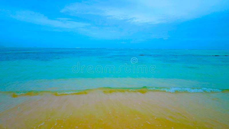 Lanikai Beach on Hawaii Oahu royalty free stock photos