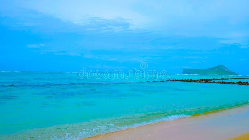 Lanikai plaża na Hawaje Oahu fotografia royalty free