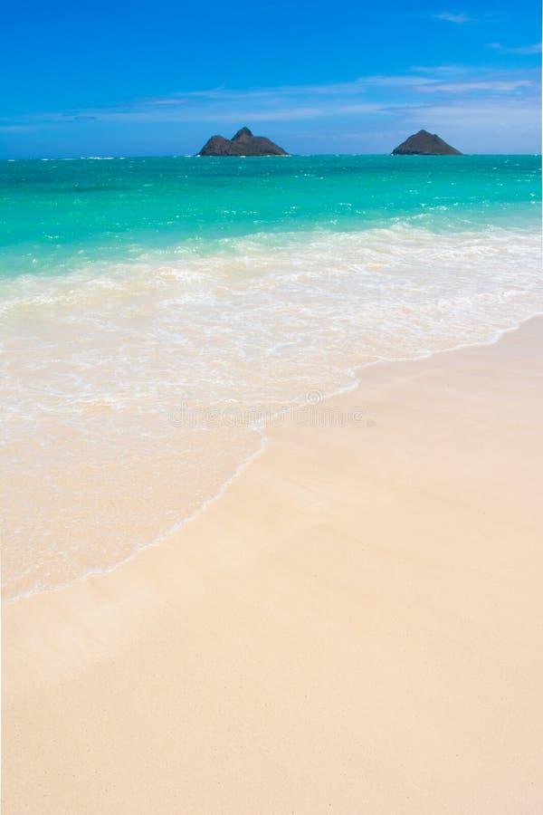 Lanikai plaża na Oahu, Hawaje zdjęcia stock