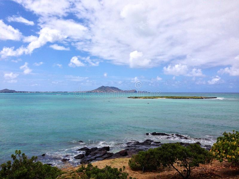 Lanikai-Strand, Kailua, Hawaii stockbilder