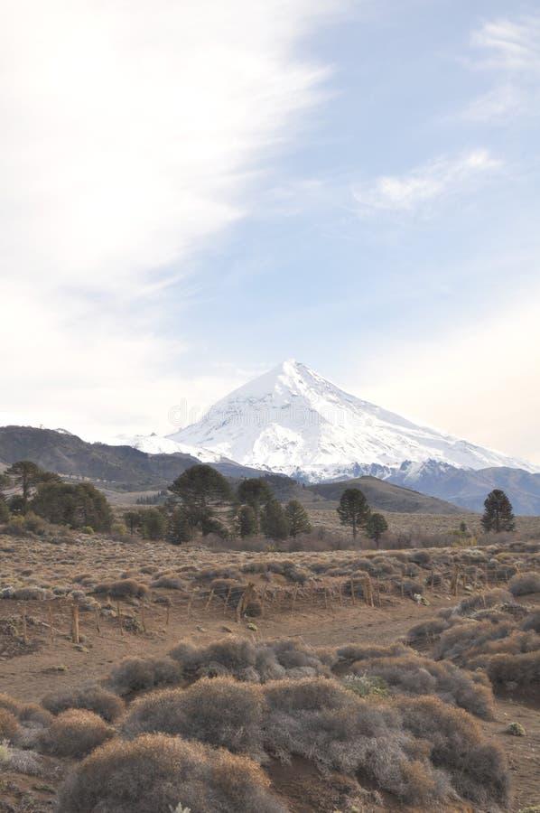 Laninvulkaan, Patagonië royalty-vrije stock foto's