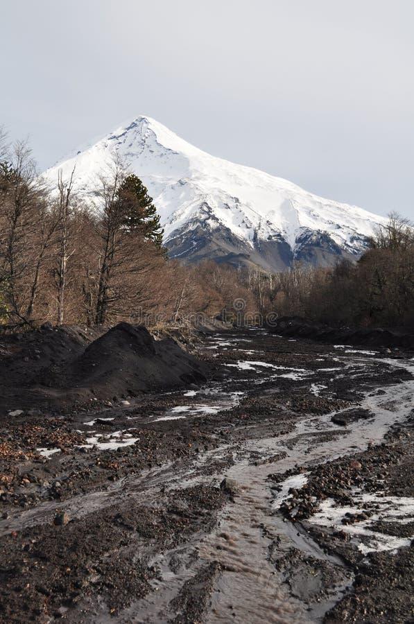 Laninvulkaan, Patagonië stock foto
