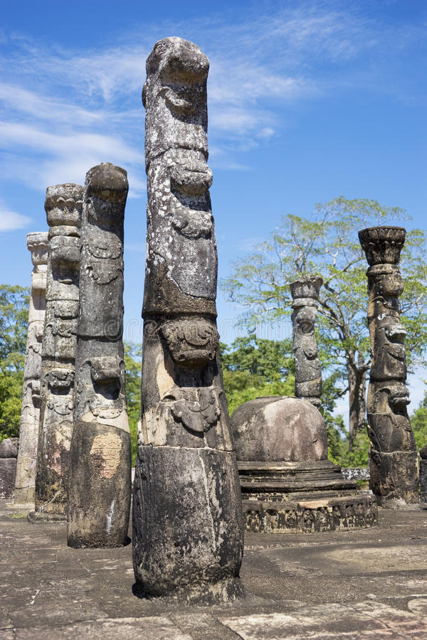 lanka mandapa nissankalata polonnaruwa sri zdjęcia royalty free