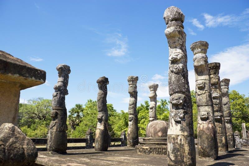 lanka mandapa nissankalata polonnaruwa sri obrazy royalty free