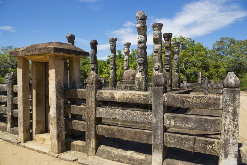 lanka mandapa nissankalata polonnaruwa sri fotografia royalty free