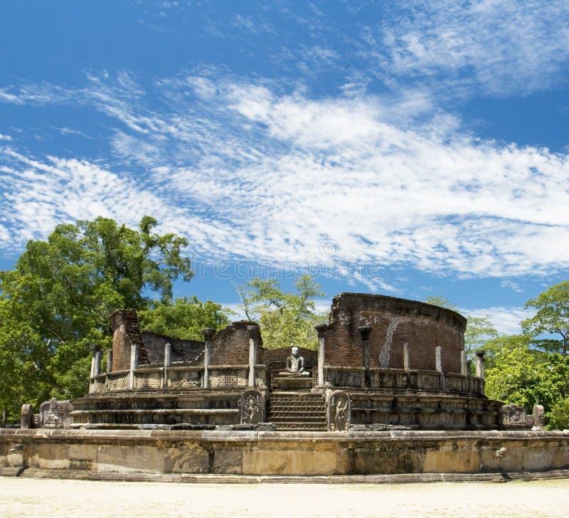lanka polonnaruwa sri vatadage 免版税库存照片