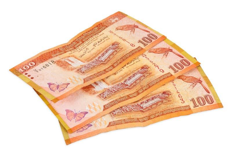 Lankan τραπεζογραμμάτια Sri 100 ρουπίων στοκ φωτογραφίες με δικαίωμα ελεύθερης χρήσης