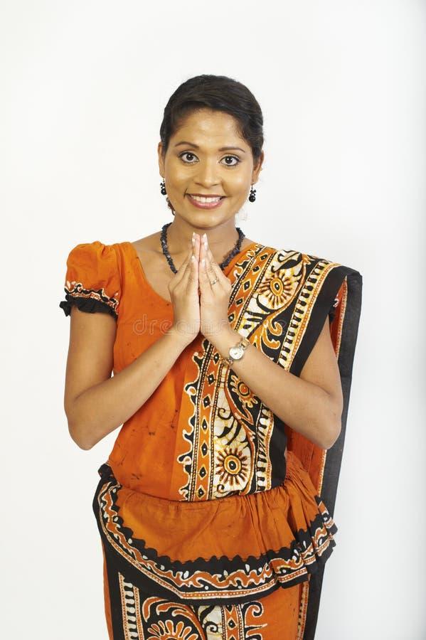 lankasrikvinnor fotografering för bildbyråer