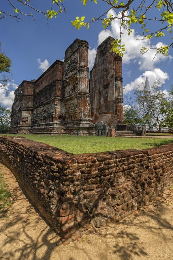 Lankatilaka temple in Polonnaruwa, Sri-Lanka. Old city stock image