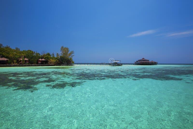 Lankayan海岛 库存照片
