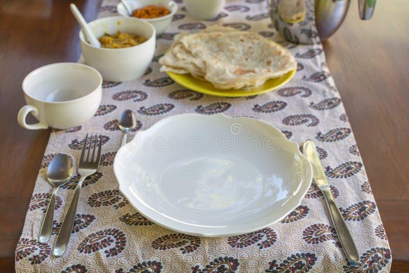 Lankijczyka domowej roboty śniadanie fotografia stock