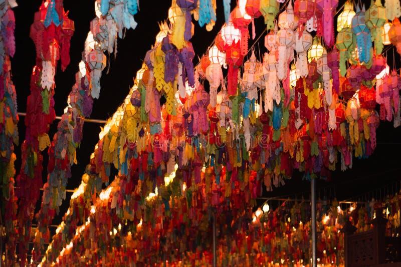 Lanna фонарика тайское стоковая фотография rf