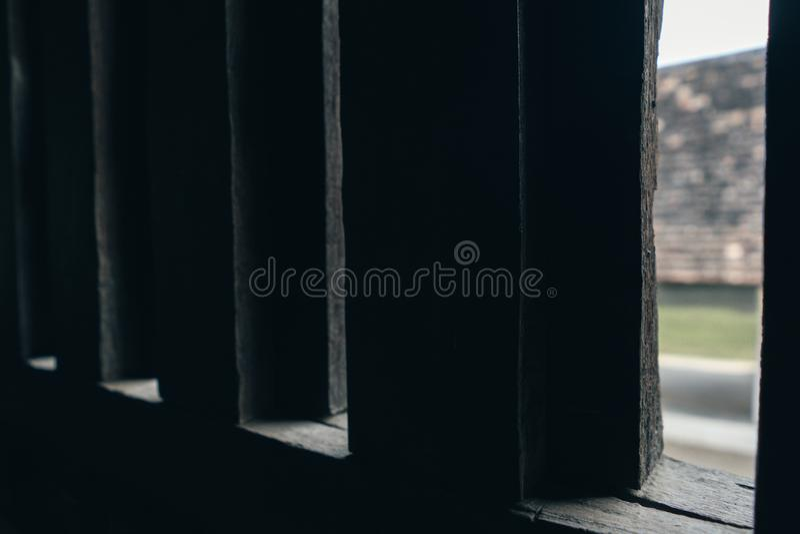 Lanna-Artfenster stockfotografie