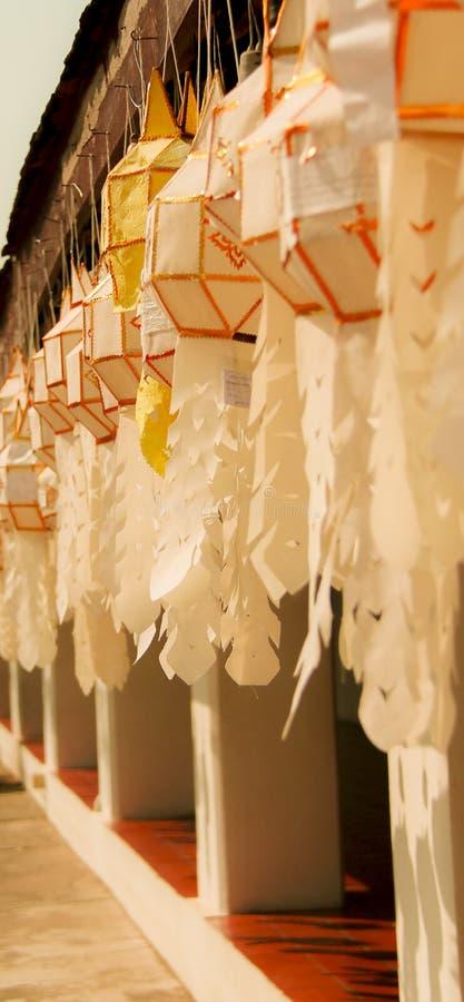 Lanna Lantern at Wat Phra That Chae Haeng, Nan Thailand royalty free stock photography