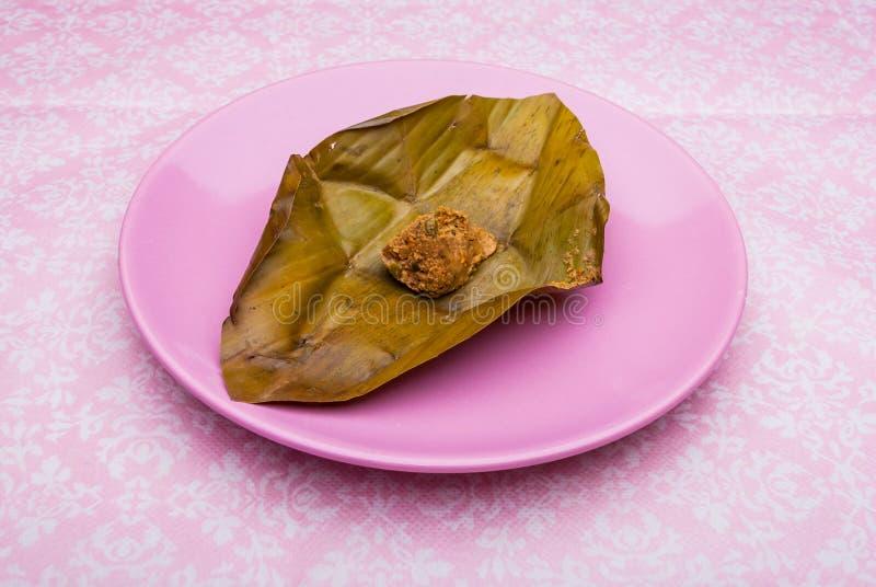 Lanna stampfte gegorene Sojabohne, thailändische Nordnahrung stockbilder