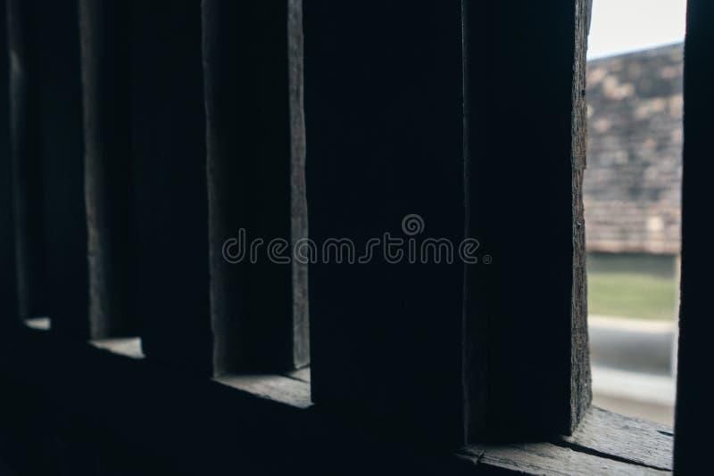 Lanna stilfönster arkivbild