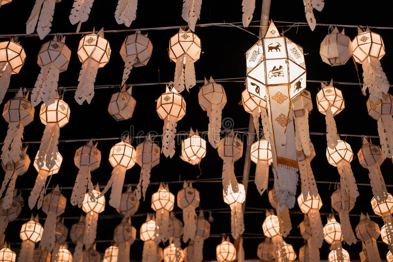 Lanna tailandés de la linterna imagen de archivo libre de regalías