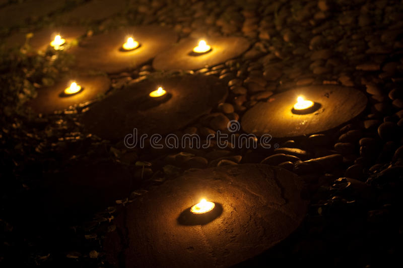 Lanna Tealight Candle imagen de archivo libre de regalías