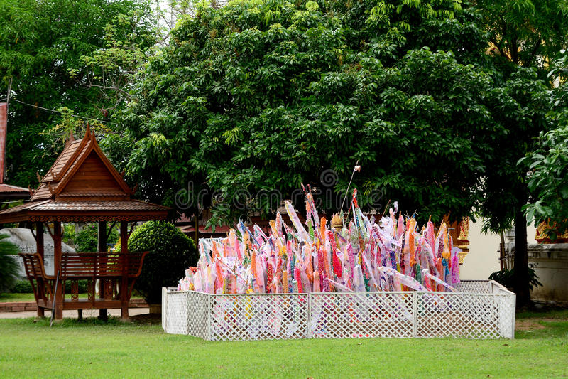 Lanna Thai flagga royaltyfri bild