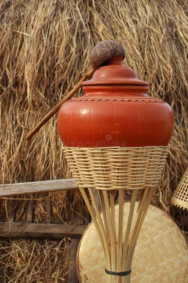 Lanna water jar royalty free stock photography
