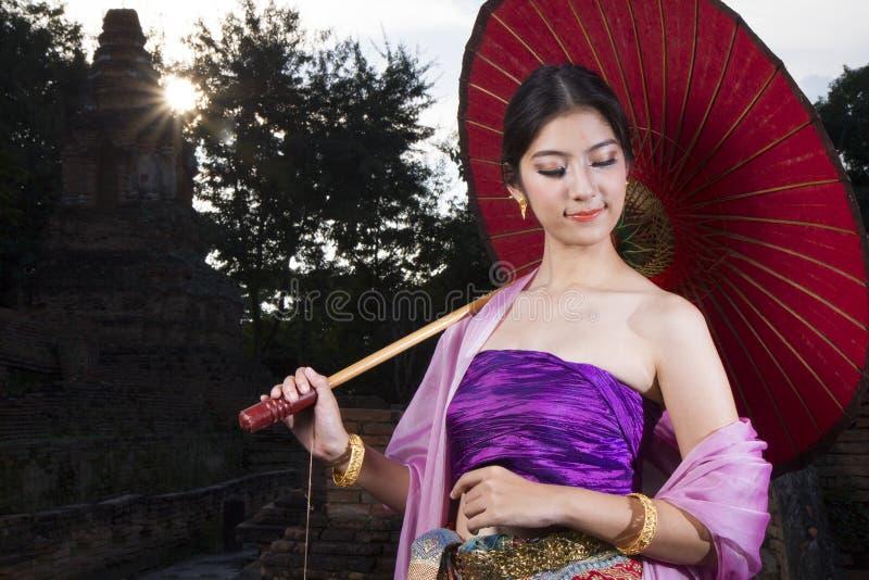Lanna woman north thailand. An elegant Lanna woman Chiang Mai North Thailand stock photography
