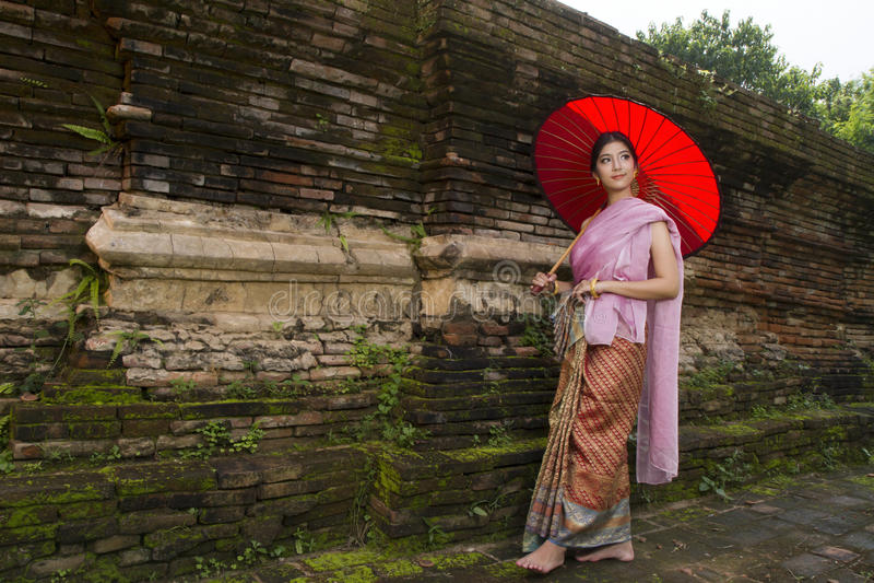 Lanna woman north thailand. An elegant Lanna woman Chiang Mai North Thailand. Photo taken Sunday, October 6, 2013 stock images