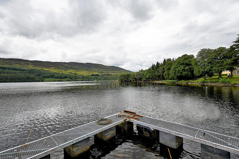 Lanndscapes of Loch Ness and Port Arthur in the highlands, scotland stock photography