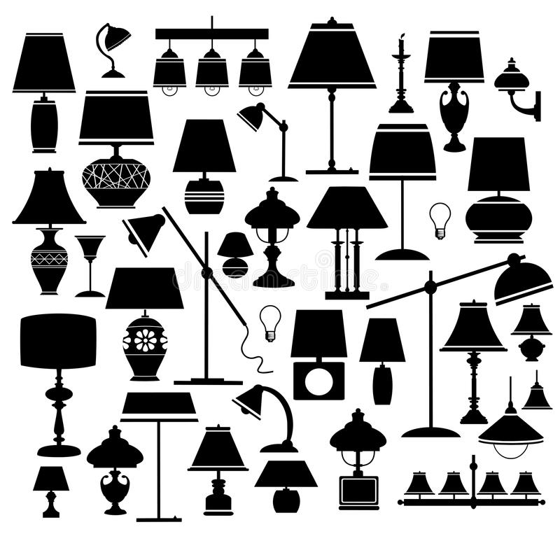 Lanps ilustração royalty free