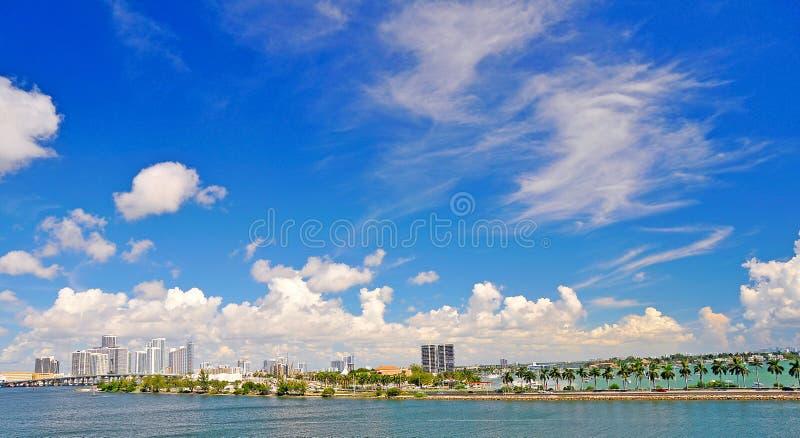Lanscape com Miami imagem de stock
