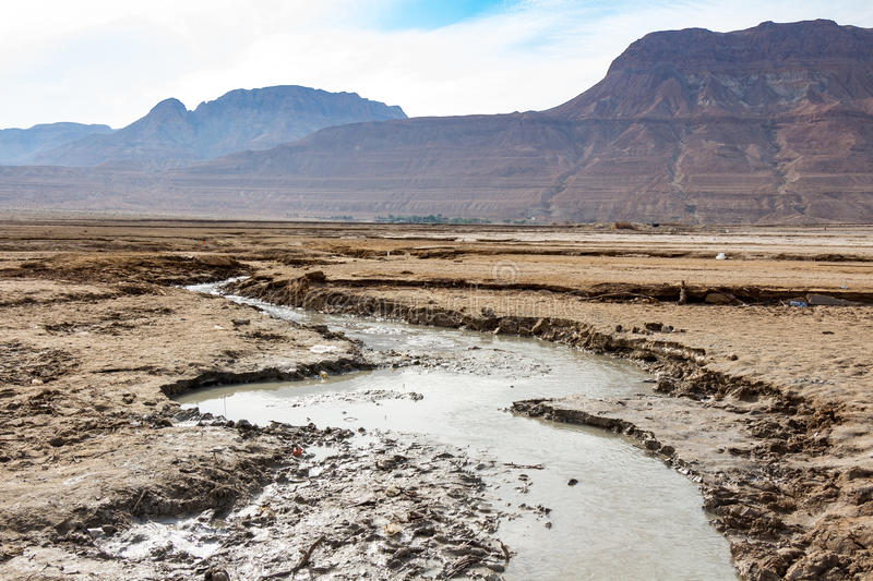 Lanscape from Dead sea shore royalty free stock image