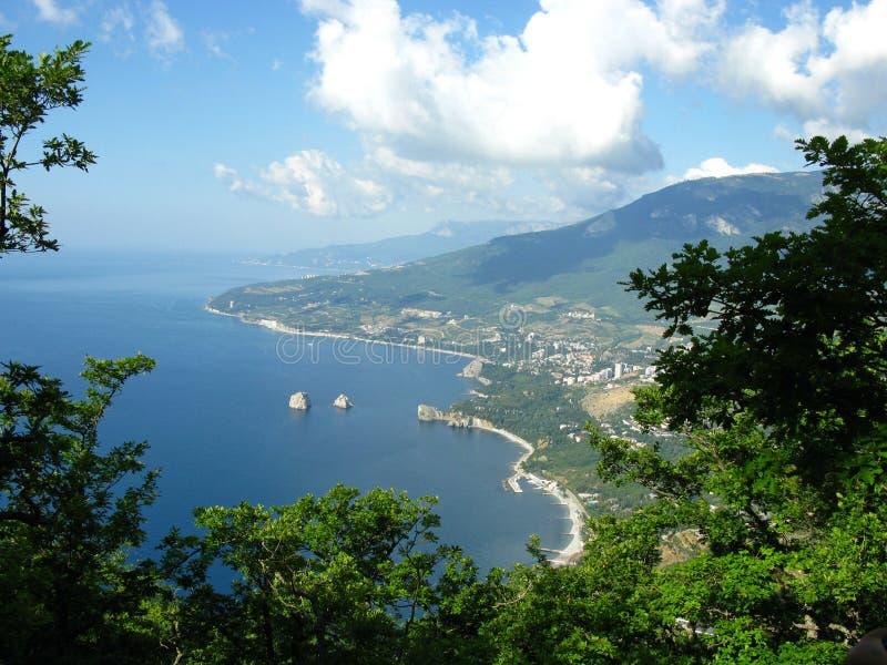 Lanscape del mare della Crimea fotografie stock libere da diritti
