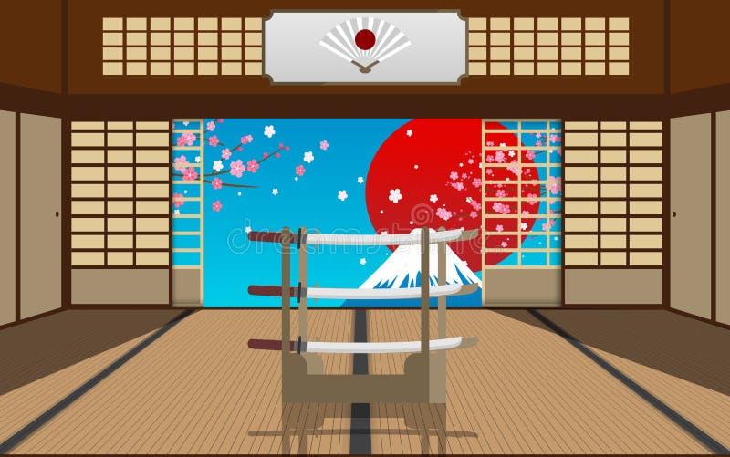 Lanscape del monte Fuji stock de ilustración