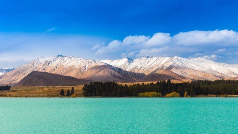 Lanscape hermoso en el lago Tekapo, Nueva Zelanda fotografía de archivo libre de regalías