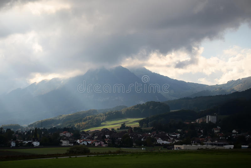 Lanscape nublado hermoso fotografía de archivo libre de regalías
