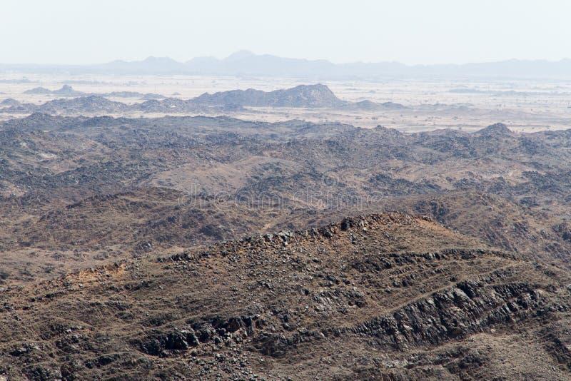 Lanscape para um deserto fotografia de stock