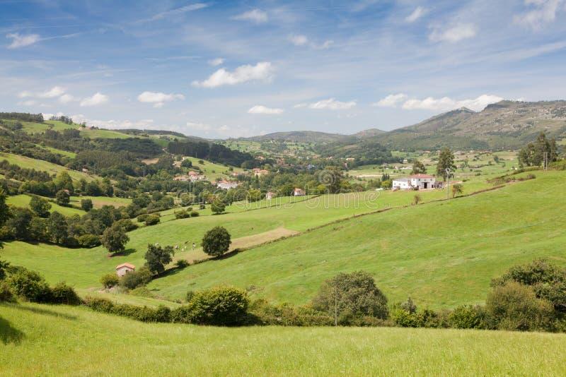 Lanscapes di Cantabria fotografie stock
