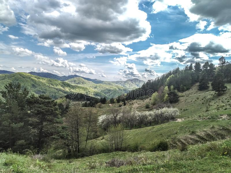 Lansdcape de Rumania imagen de archivo