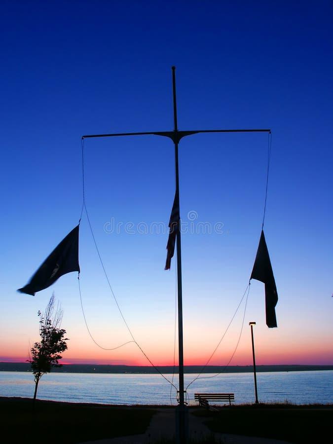 Lanse海滨公园密执安 免版税图库摄影