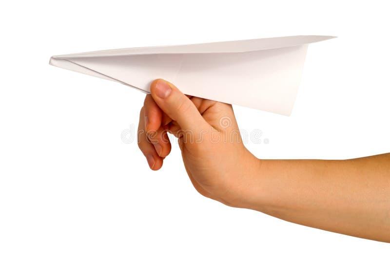 lanserande papper för flygplan royaltyfri foto