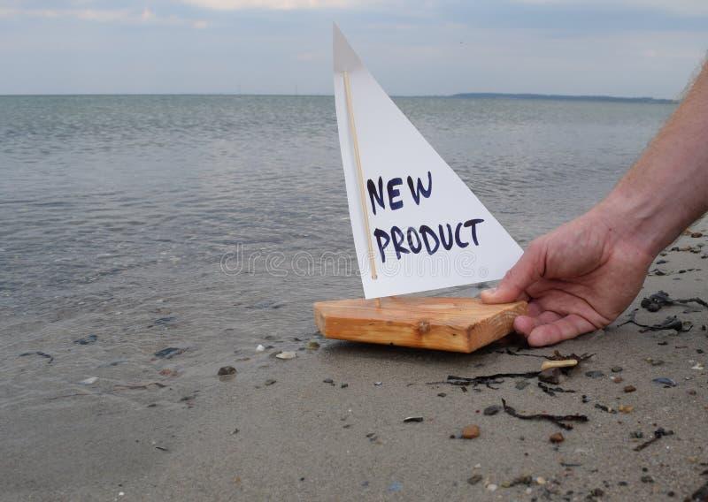Lansering av en ny produkt royaltyfria foton