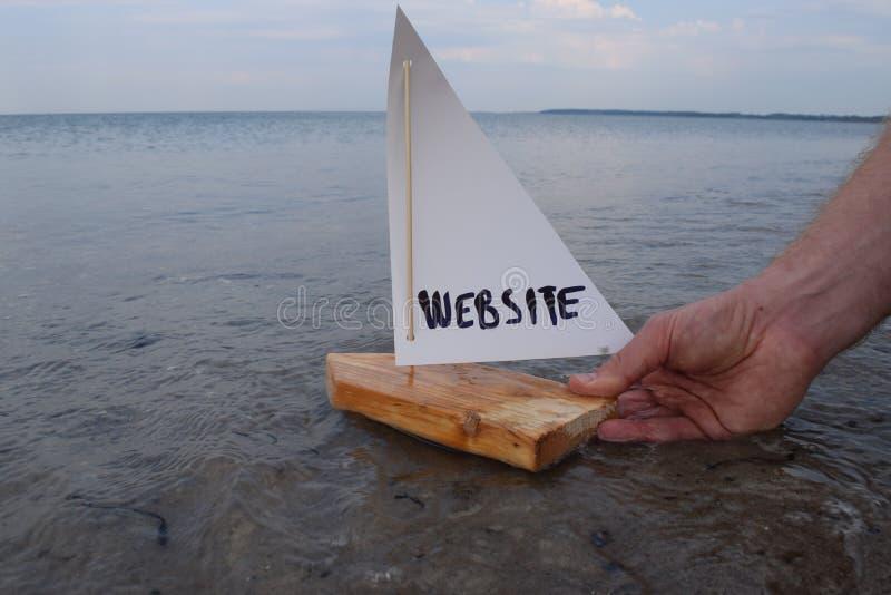 Lansering av min nya website royaltyfri bild