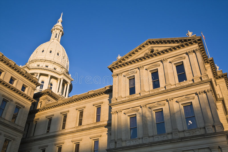 Lansing, Michigan - Capitólio do estado foto de stock royalty free